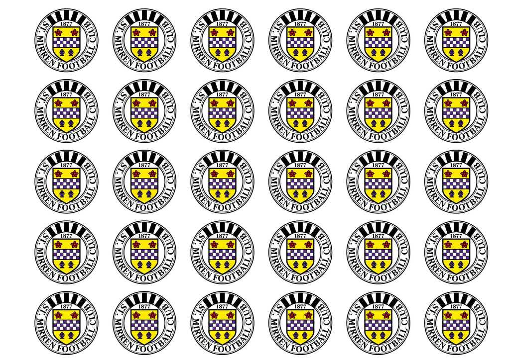 Edible cupcake toppers featuring the St Mirren FC Badge