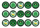 15 printed cupcake toppers with images for celebrating St Patricks Day