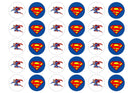 Edible printed cupcake toppers with Superman images