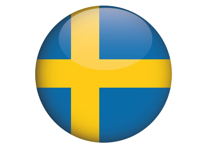 Large cake topper with the Flag of Sweden