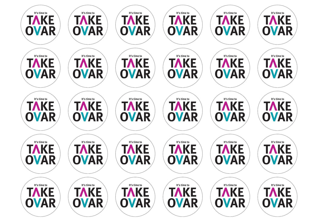 30 edible cupcake toppers for the charity Target Ovarian Cancer - Take Ovar