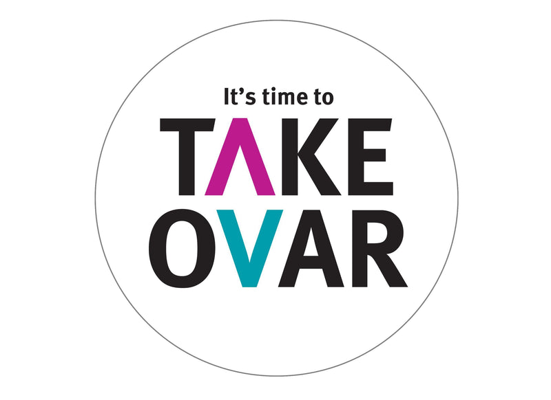 Large cake topper for the charity Target Ovarian Cancer - Take Ovar