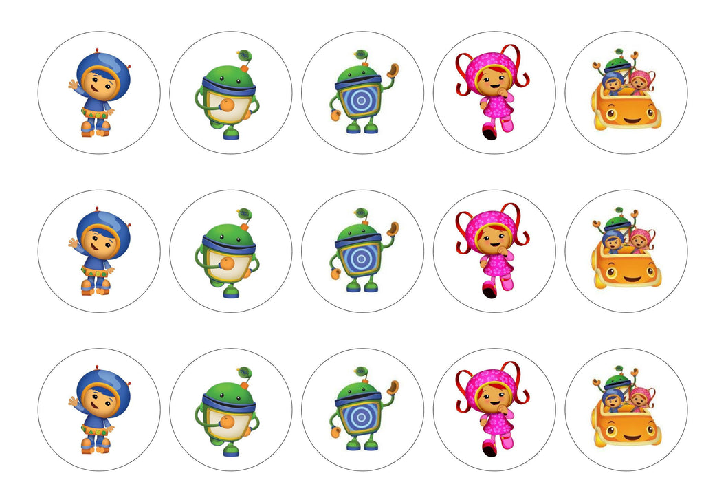 Printed Edible Cupcake Toppers With Team Umizoomi