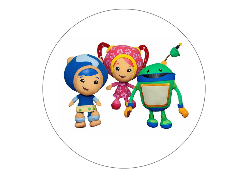 Printed edible cake topper with Team Umizoomi