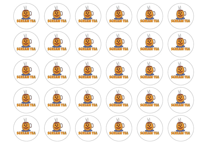 38mm printed edible cupcake toppers