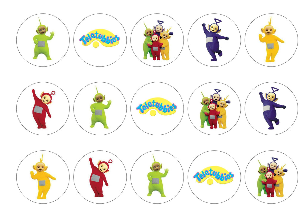 photograph about Printable Edible Cake Toppers identified as Teletubbies