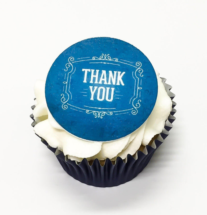 Thank you printed cupcake toppers and cake toppers