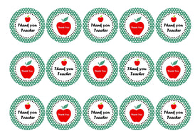 Printed cupcake toppers to say Thank You Teacher