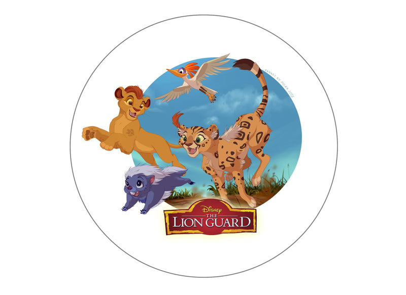 "7.5"" cake topper with the Lion Guard"