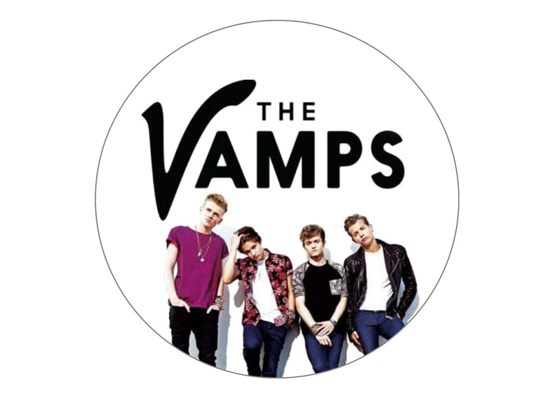 Printed edible cake topper with image of The Vamps