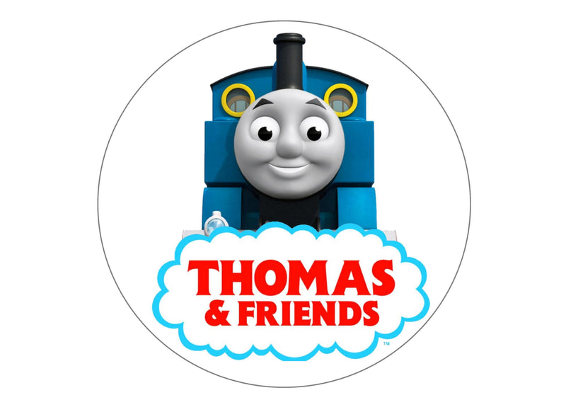 Large cake topper with an image from Thomas the Tank Engine