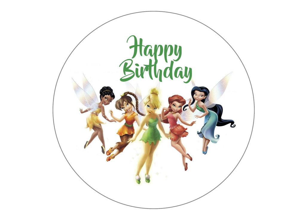 "7.5"" Cake topper with Tinkerbell and friends"
