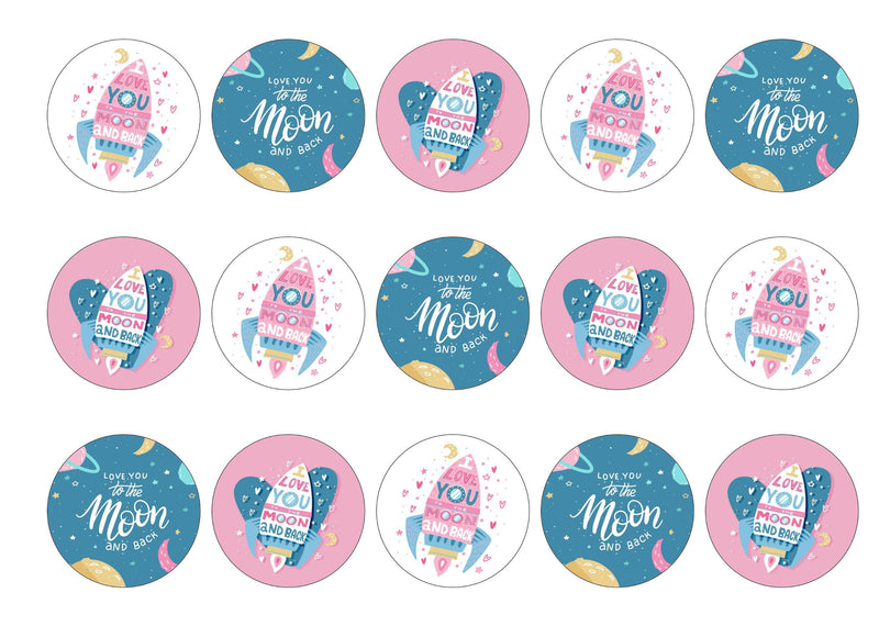 15 toppers with a valentine theme i love you to the moon and back