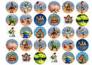 30 edible cupcake toppers with Toy Story images