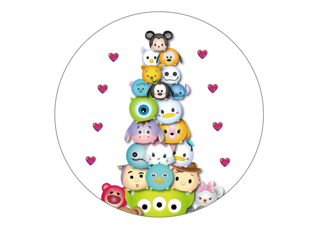 "7.5"" cake topper wit the Tsum Tsums"