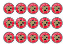 Printed cupcake toppers with the Walsall football badge