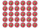 30 edible cupcake toppers with the Walsall football badge