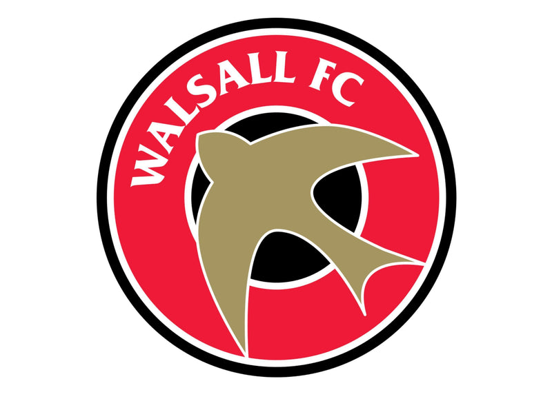 Large cake topper with the Walsall football badge