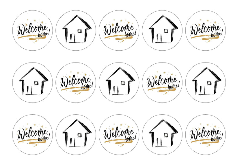 Welcome Home-Edible cake toppers-Edibilis