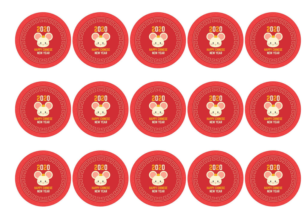 15 printed toppers celebrating 2020 - the Year of the Rat for Chinese New Year