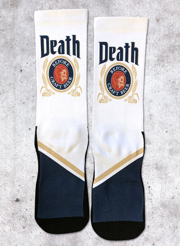 DEATH BEFORE - SOCKS (WHITE)