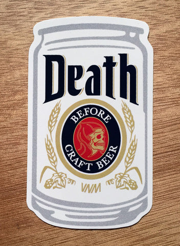 DEATH BEFORE - STICKER 6-PACK