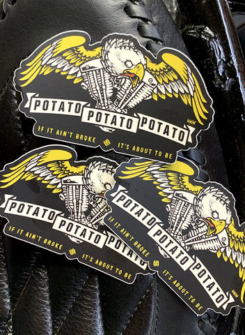 "POTATO - 4"" STICKERS 3-PACK"