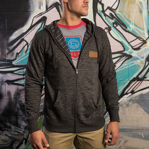SilencerCo Leather Patch Zip Hoodie
