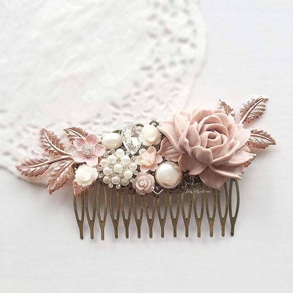 flower hair accessories for wedding, custom designs, romantic, vintage, beautiful bridal headpieces