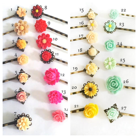 free floral hair pins promotion for jewelsalem hair comb orders