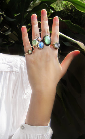 Adjustable rings, cool design, boho chic modern rings set