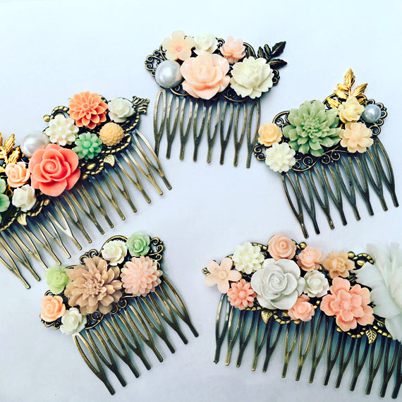 beautiful flower hair accessories from jewelsalem