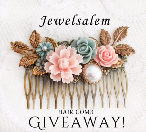 jewelsale hair comb giveaway