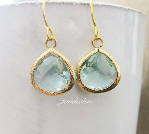 elegant seafoam glass earrings