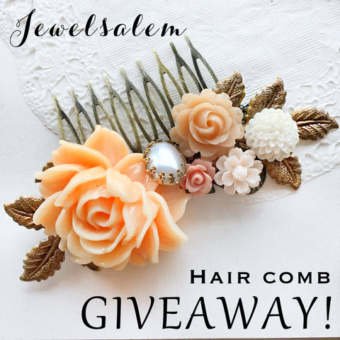 peach blush autumn wedding comb jewelsalem giveaway