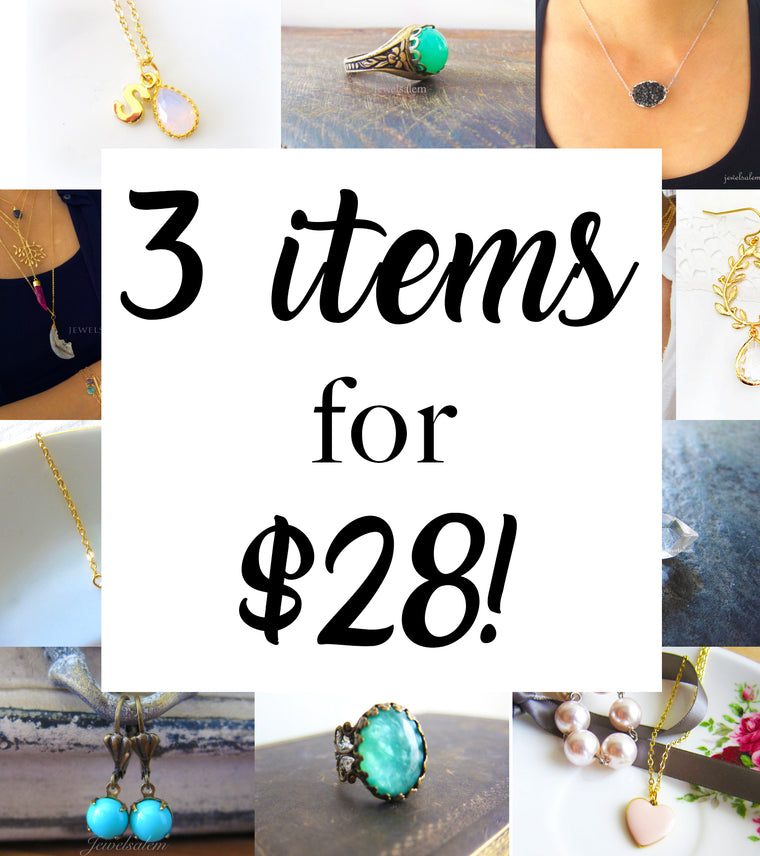 Bundle Deal - 3 for $28 Modern Jewelry
