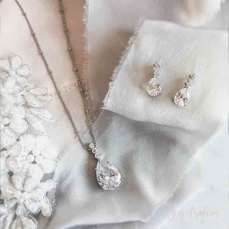 Ashley - Bridal Jewellery Earrings Necklace Gift Set