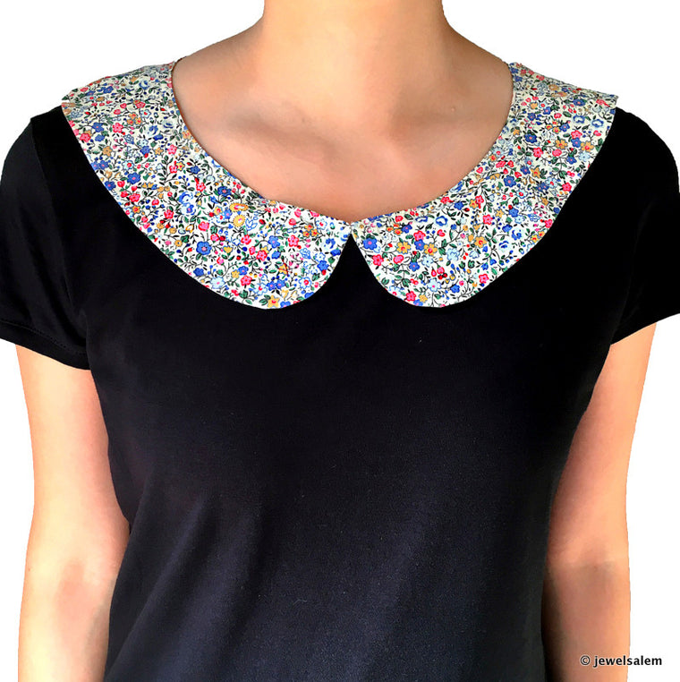 Black Peter Pan Collar T Shirt - Journey to Giverny