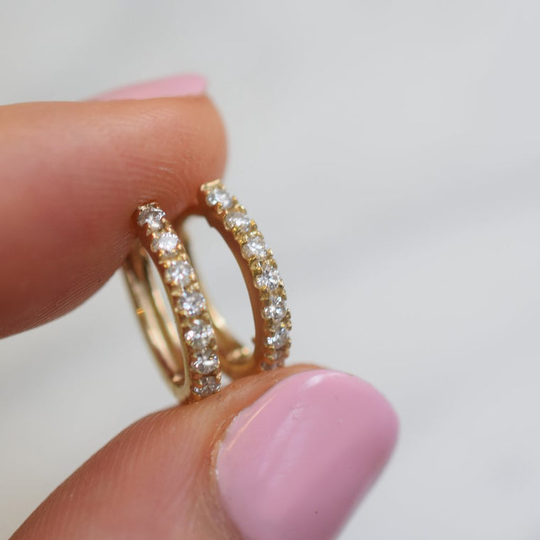 St Germain - Diamond Hoop Earrings