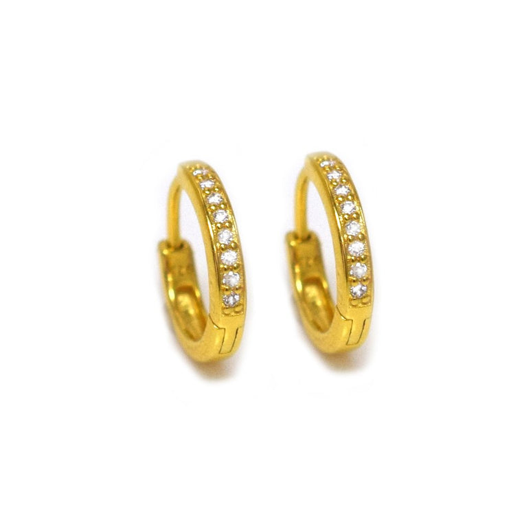 Mini St Germain - Diamond Hoop Earrings
