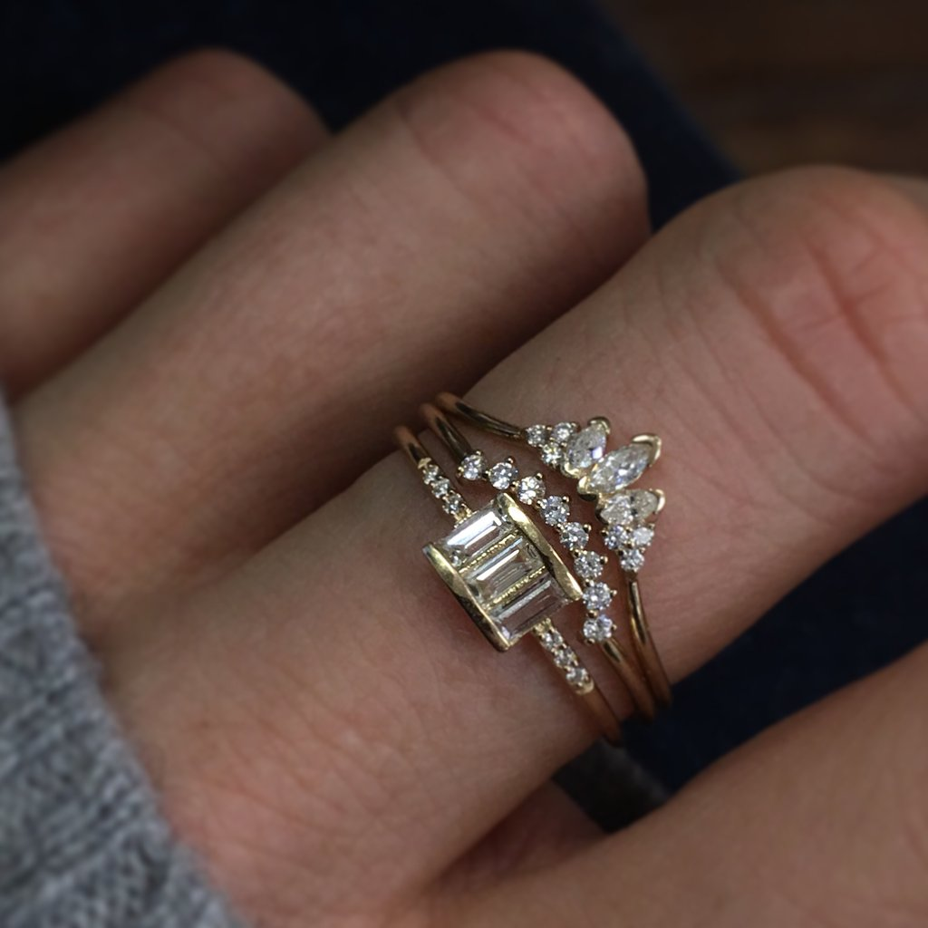 Kensington - Crown Diamond Arc Ring