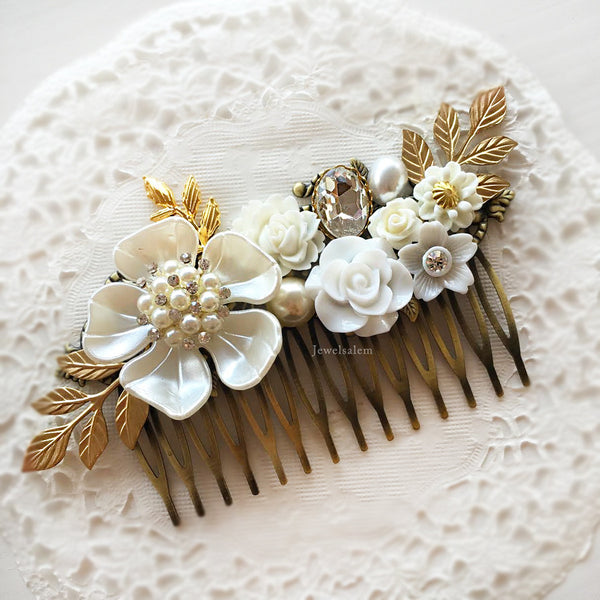 Elegant Bridal Wedding Hair Comb - Jewelsalem