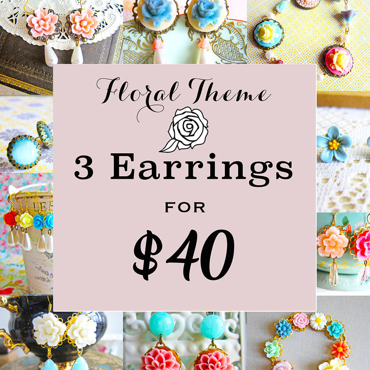 Bundle Deal - Floral Earrings 3 for $40