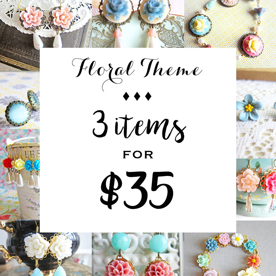 Bundle Deal - Floral Jewelry 3 for $35