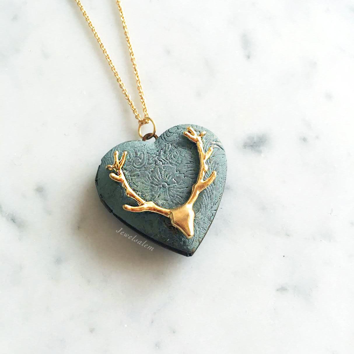 Antler Locket - Jewelsalem