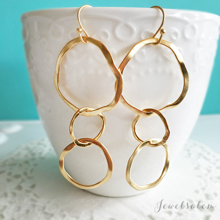 Circle Earrings - Jewelsalem  - 1