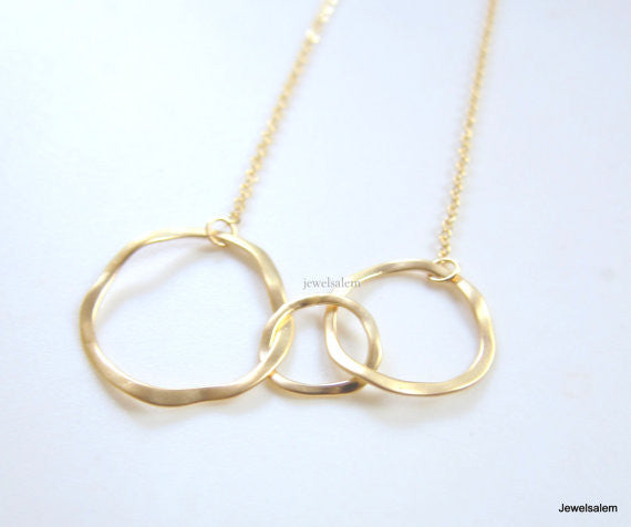 Circles Necklace - Jewelsalem  - 1