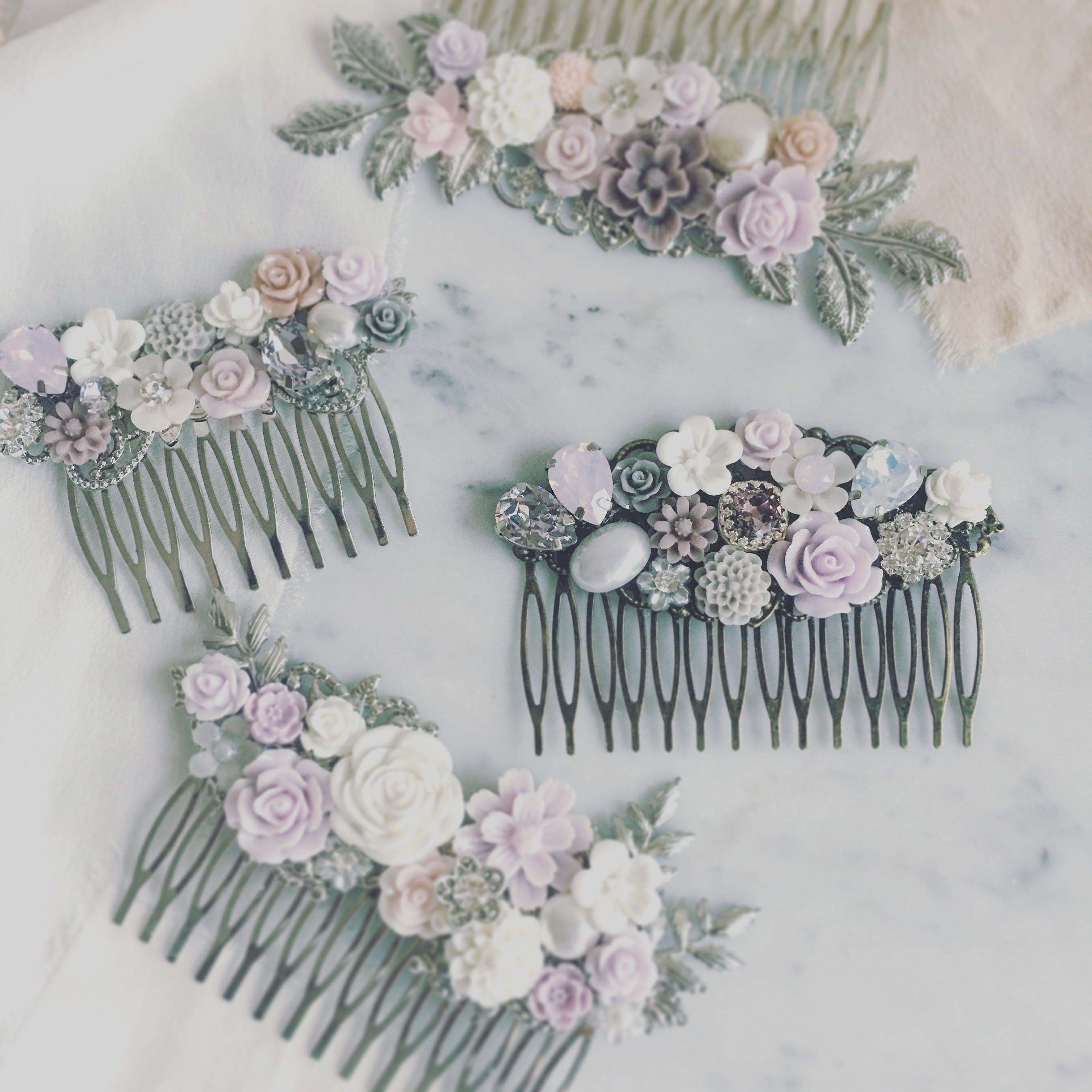 Mayfair - Misty Dreamy Wedding Comb Romantic Bridal Hair Accessories