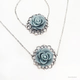 Velda - Flower Necklace, Bridesmaids Gift Jewelry, Wedding Jewellery - Jewelsalem
