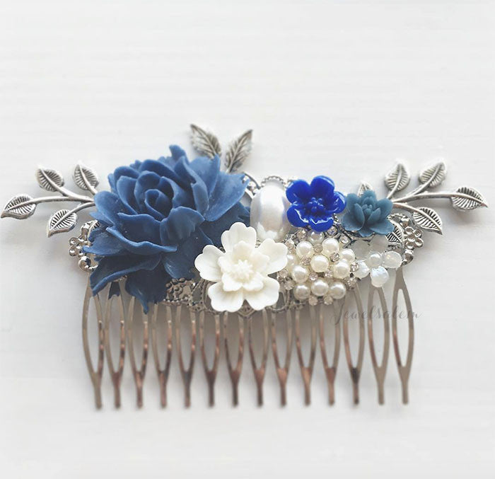 Harriet - Blue Valentine Hair Comb
